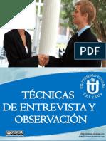 Técnicas y Entrevistas de Observación