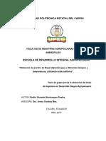 291 Obtención de Pectina de Nopal (Opuntia Spp), A Diferentes Tiempos y Temperaturas, Utilizando Ácido Sulfúr
