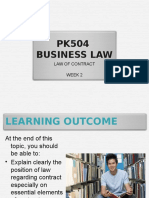CHAPTER 2 Business Law of Contract Week 2