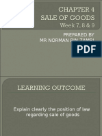 Chapter 4 Business Law Sales of Goods Week 7,8,9
