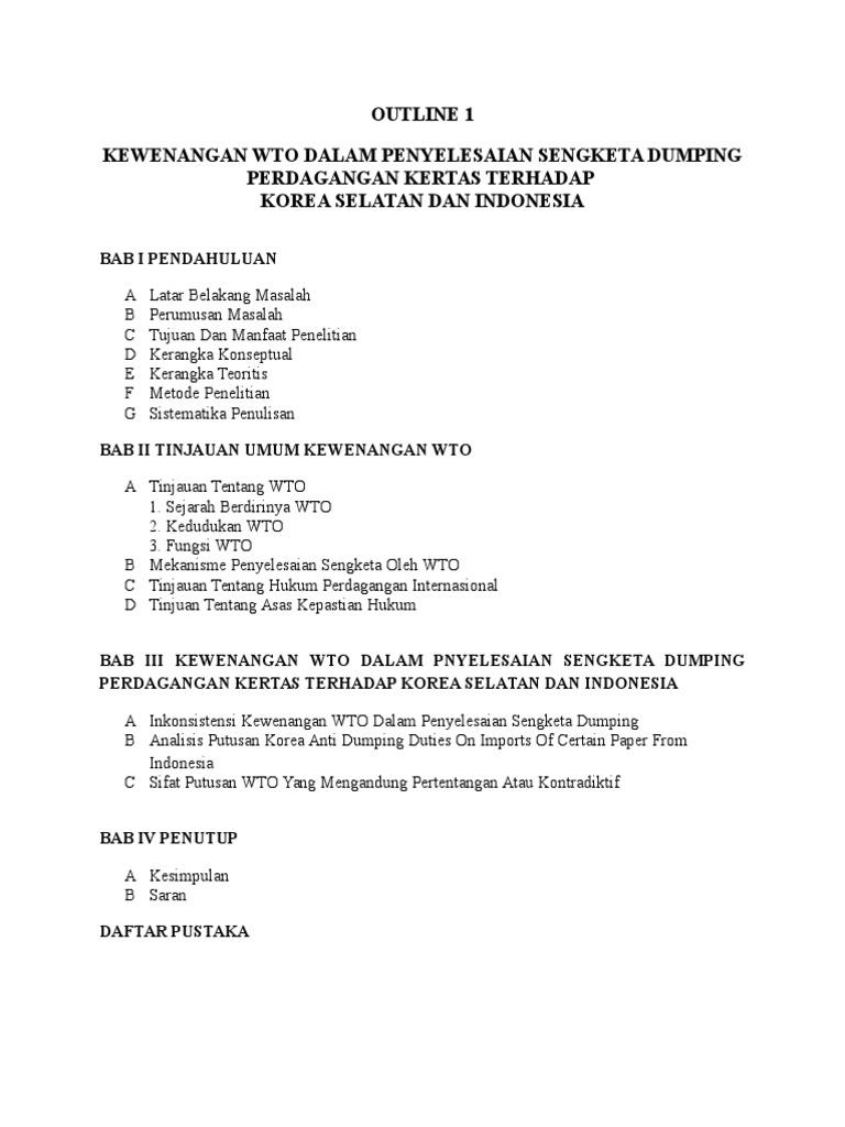 Contoh Outline Skripsi Hukum International