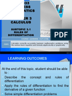 Business Mathematics Rules of Differentiation