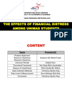 FINAL SLIDE - Financial Distress Among UNIMAS Students