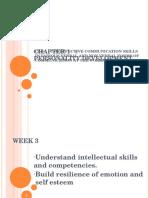 Soft Skills Chapter 1 Perso nality Development WEEK 3