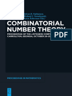 Bruce Landman - Combinatorial Number Theory