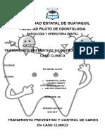 Tratamiento Preventivo y Control de Caries en Caso Clinico g5
