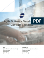 Agile Software Development Contract Template
