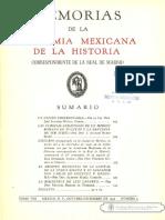 Memorias Academia Mexicana de La Historia