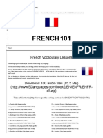 100 French Vocabulary Lessons (Audio Download)