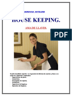 Separata House Keeping( Ama de Llaves).