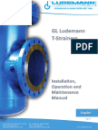 T Strainers Ludemann Installation Operations and Maintenance Manual