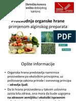 Proizvodnja organske hrane primjenom alginskog preparata