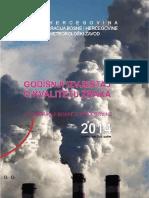 Godišnji izvještaj o kvalitetu zraka u Federaciji BiH u 2014. godini
