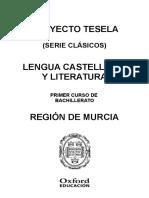 Programación Murcia Lengua Castellana 1 Bach