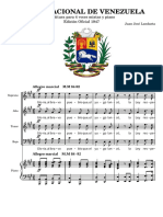 HIMNO NACIONAL de VENEZUELA. National Anthem of Venezuela. Piano and Mixed Chorus