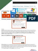 Windows Update Error Support