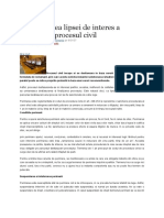 Sanctionarea Lipsei de Interes a Partilor in Procesul Civil