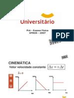 Física - Pré-Vestibular Universitário - UFRGS 2007