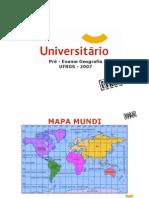 Geografia - Pré-Vestibular Universitário - UFRGS 2007