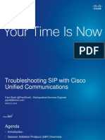 TROUBLESHOOT SIP CISCO LIVE