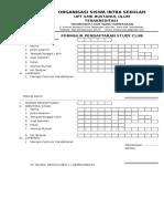 Formulir Studi Club