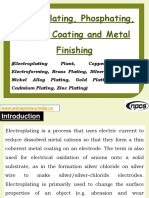 Electroplating, Phosphating, Powder Coating and Metal Finishing (Electroplating Plant, Copper Plating, Electroforming, Brass Plating, Silver Plating, Tin-Nickel Alloy Plating, Gold Plating (Gilding), Cadmium Plating, Zinc Plating)