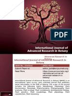 International Journal of Advanced Research in Botany - ARC Journals
