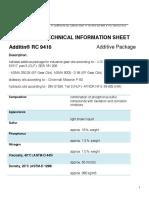 Additin RC 9410 TDS