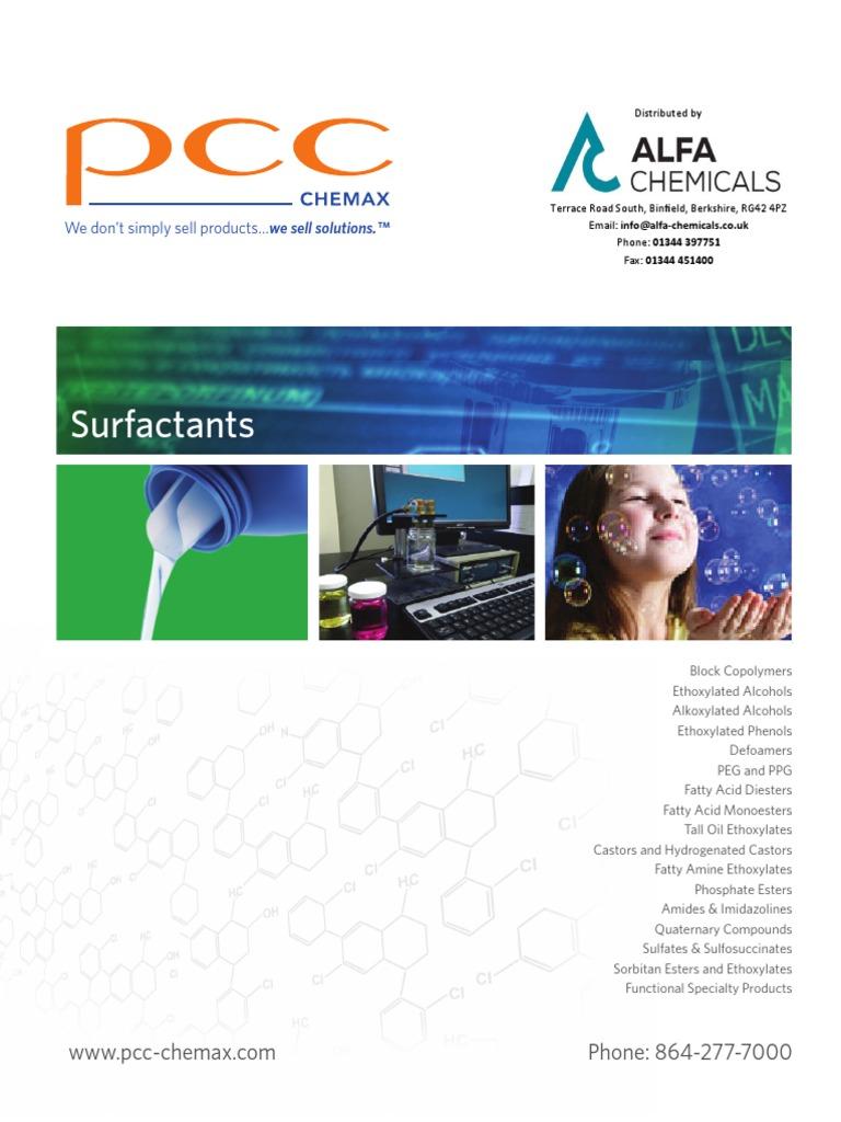 Max_5 2_Surfactant_Brochure pdf | Surfactant | Emulsion