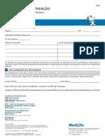 METLIFE - Designação de Beneficiários