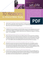10 Reasons to Attend Bible Study