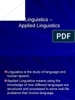 Linguistics – Applied Linguistics