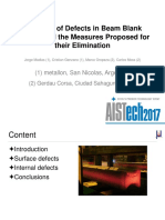 A Review of Defects in Beam Blank Casting and the Measures Proposed for Their Elimination