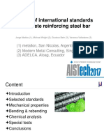 Analysis of International Standards on Concrete Reinforcing Steel Bar