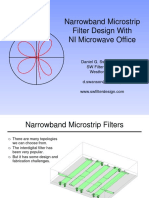Narrowband Microstrip Filter Design