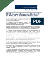 Nota de Prensa 26 Agencia Buenos Aires (23 May 2017)