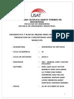 Trabajo de Investigación Ing. de Métodos:mejora del proceso de produccion