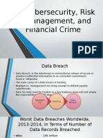 Cybersecurity, Risk Management, And Financial Crime