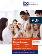 iba - Duales Bachelor Studium Physiotherapie