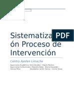 Sistematización experiencia de intervención