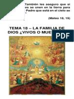 Tema 18 - La Familia de Dios Vivos o Muertos