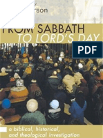 D. A. Carson - From Sabbath to Lord's Day