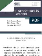 2.4 Stabilirea Ordinii de Zi a Negocierii