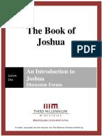The Book of Joshua – Lesson 1 – Forum Transcript
