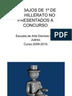TRABAJOS DE 1º DE BACHILLERATO NO PRESENTADOS