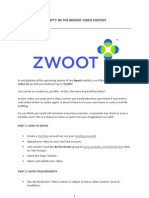 Zwoot Video Contest Terms and Conditions