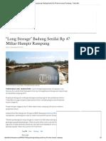 """""""Long Storage"""" Badung Senilai Rp 47 Miliar Hampir Rampung - Tribun Bali"""