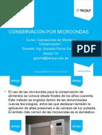 Clase 14 Conservación de alimentos por microondas