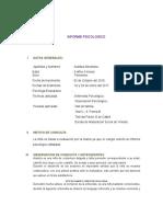 Informe Psicologico Arantza