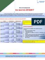 Avis de Candidature Aux Masters 2016 20171